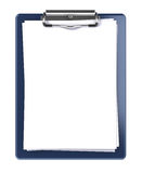 Blank clipboard. Isolated on white Royalty Free Stock Photos