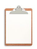 Blank Clipboard Stock Photo