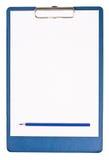 blank clipboard Arkivbilder
