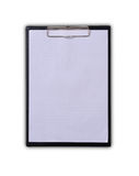Blank clipboard Stock Photography