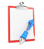 Blank clipboard and ballpen Royalty Free Stock Photo