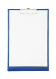 Blank clipboard isolated Stock Image