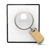 Blank clipboard and magnifier Stock Photos