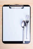 Blank Clipboard for menu Royalty Free Stock Photography