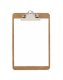Blank clipboard with paper Royalty Free Stock Photo