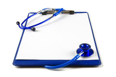 Blank clipboard with stethoscope Stock Photo