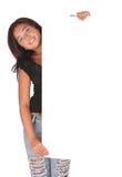 blank clipboardkvinna Royaltyfri Foto