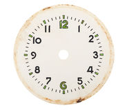 Blank clock dial. On white background Stock Photos