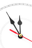 Blank clockface Royalty Free Stock Images