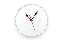 Blank clockface Stock Photo