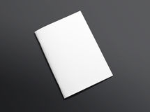 Blank closed brochure on dark background Stock Images