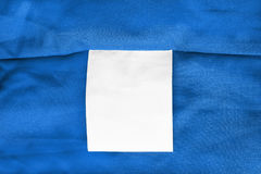 Blank clothes label Stock Images