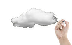 Blank cloud stock photo