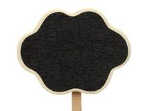 Blank cloud shape blackboard Stock Photography