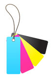 Blank cmyk tag Royalty Free Stock Photography
