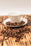 Blank coffee cup with coffee bean Stock Photo