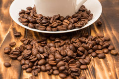 Blank coffee cup with coffee bean Royalty Free Stock Image