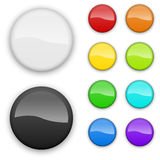 Blank color badges Stock Photo