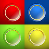 Blank color buttons Royalty Free Stock Photography