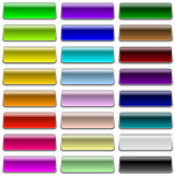 Blank color buttons Royalty Free Stock Image