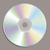 Blank color CD trans Royalty Free Stock Images