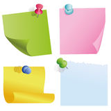 Blank color items. On white Royalty Free Stock Photos