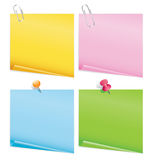 Blank color items. On white Stock Images