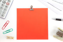 Blank color paper note Royalty Free Stock Photos