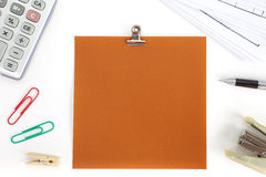 Blank color paper note Stock Photography