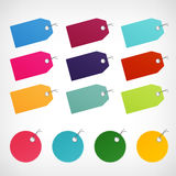 Blank color price labels  stickers Royalty Free Stock Images