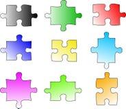 Blank Color Puzzle Pieces