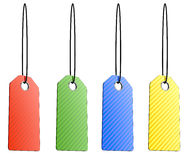 Blank color shopping tags Royalty Free Stock Image