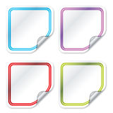 Blank color stickers 2 Royalty Free Stock Photography