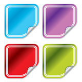 Blank color stickers 3 Stock Photos