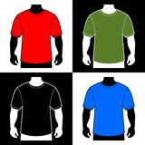 Blank Color T-shirt Men Body Silhouette. Vector Stock Images
