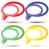 Blank colored icons communication. Raster Stock Photography