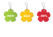 Blank colored sales tags Royalty Free Stock Photo