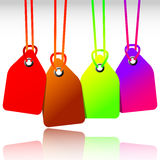 Blank colored tags Royalty Free Stock Photo