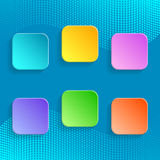 Blank colorful buttons Royalty Free Stock Photo