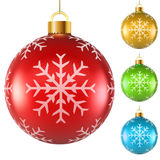 Blank colorful Christmas balls Stock Images