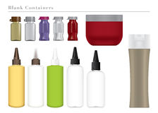 Blank Colorful Containers. Collection of Blank Colorful Containers Royalty Free Stock Image