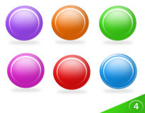 Blank colorful icon set Stock Photography