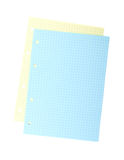Blank colorful notepaper Royalty Free Stock Images