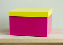 Blank colorful paper box Stock Image