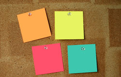 Blank colorful paper notes