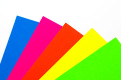 Blank colorful paper sheets. On white Stock Photo