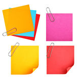 Blank colorful papers Stock Image