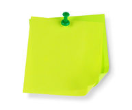 Blank colorful papers with clip Stock Photo