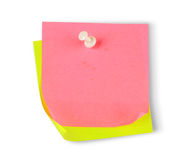 Blank colorful papers with clip Stock Photos