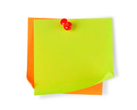 Blank colorful papers with clip Stock Images